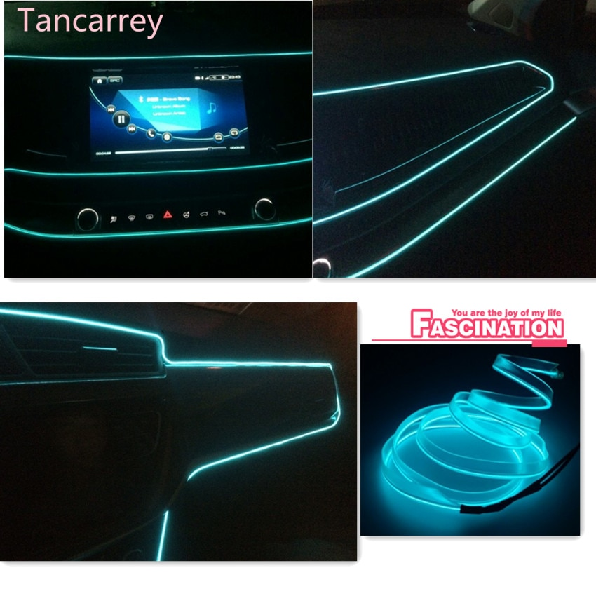 Car Styling wnętrze nastrojowe światła dla Honda Civic Accord CRV Fit Renault Peugeot 307 206 407 308 406 Citroen C4 akcesoria