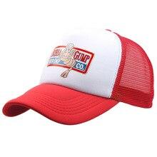 BUBBA GUMP Cap krewetki CO. Ciężarówka czapka z daszkiem mężczyźni kobiety Sport lato czapka typu snapback kapelusz forrest gump kapelusz z możliwością regulacji 11 kolorów