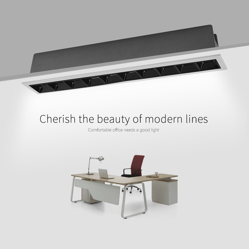 SCON 41,5 см 22,5 Вт 15 головная Светодиодная панель для офиса, офиса, современная модная линейная лампа CRI Ra>85, освещение в помещении