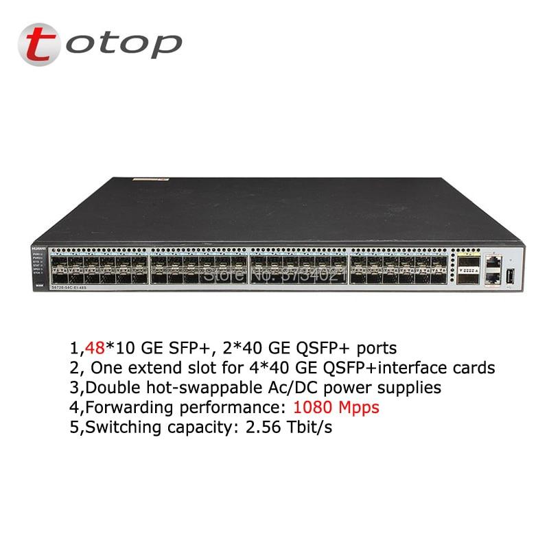 Venta de fábrica 10GE 48 puertos interruptor SFP HUA WEI S6720-54C-EI-48S-DC capa 3 Gigabit Ethernet interruptor