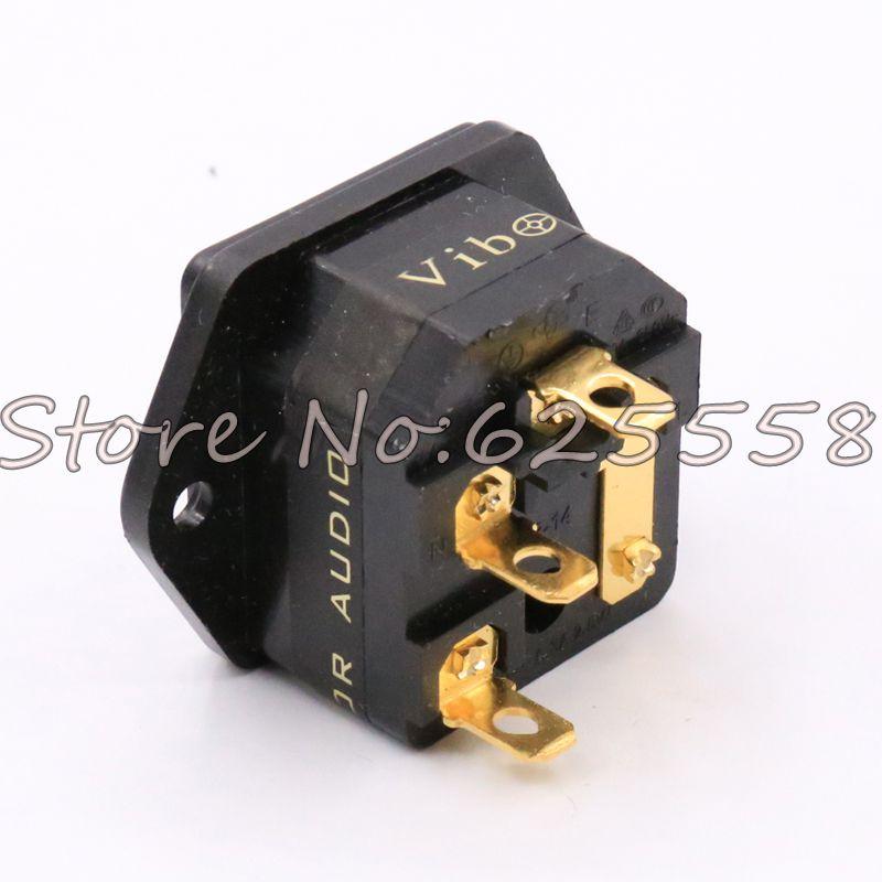 FI-03 de audio Hifi Fused AU IEC enchufe/conector 24K chapado en oro IEC entrada con portafusibles