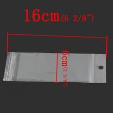 DoreenBeads Plastic Bags Self Adhesive Seal Transparent(Usable Space 12.2x6cm) 16x6cm,200PCs (B25044), yiwu