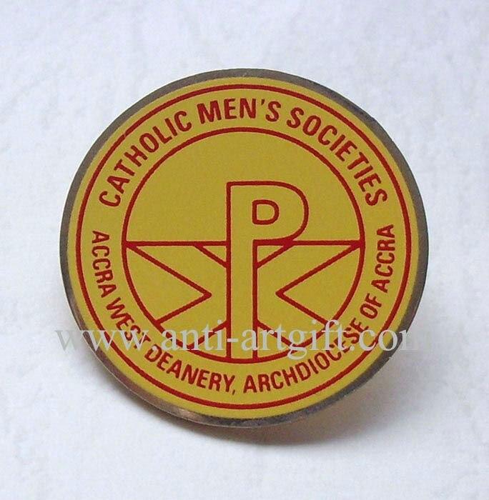 Pin de solapa de impresión de seda personalizado