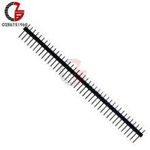 10Pcs 40Pin 2.54mm Straight Single Row Male Pin Header Connector Strip PBC DIY 40 Pin for Arduino