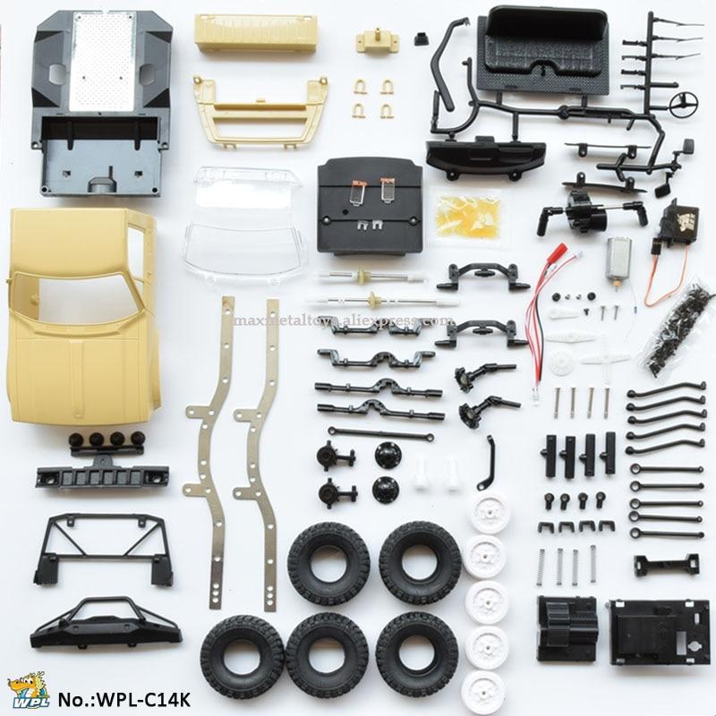 WPL C14 KIT 1:16 DIY RC Truck Hynix 2.4G Mini Off-Road Assemble Remote Control Car RC Car RC Monster Crawler Truck 4WD Kid Boy