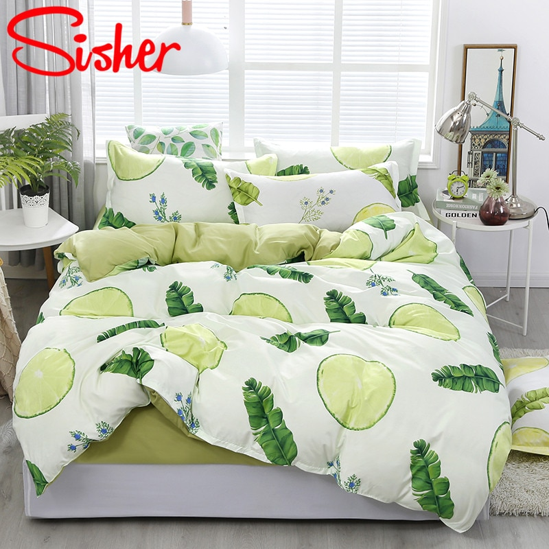 Sisher أوراق الرعوية الفراش مجموعات طقم سرير الشمال حاف الغطاء المخدة يغطي لحاف حجم مزدوج واحد الملكة الملك لا غطاء سرير