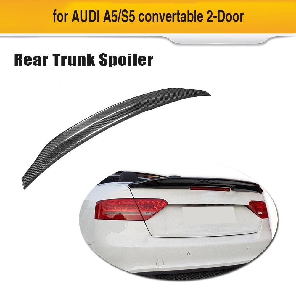 Audi A5 Base Sline S5 coupé   Becquet de coffre arrière de voiture en Fiber de carbone pour Audi A5 Base Sline S5 coupé Convertible 2008 - 2016