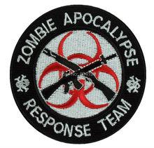 "3"" ZOMBIE APOCALYPSE RESPONSE TEAM Movie TV Series Embroidered LOGO Iron On Patch Emo Goth Punk Rockabilly badge"
