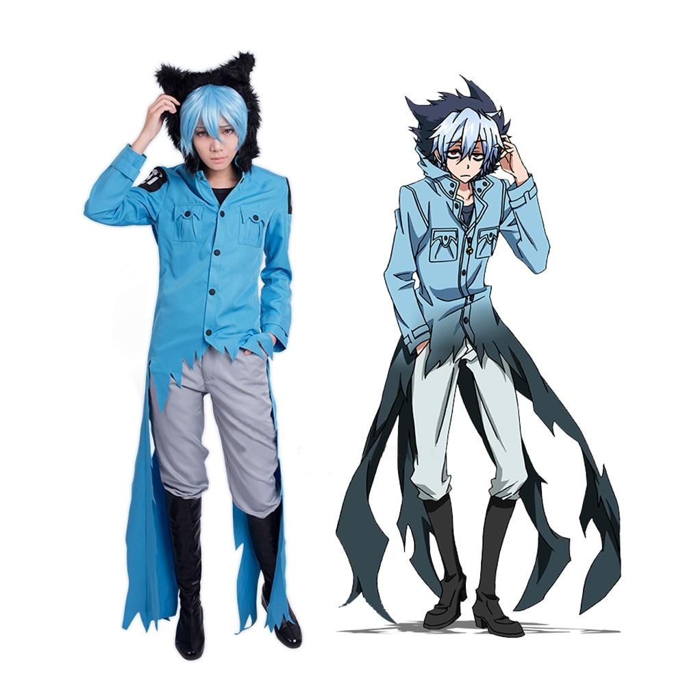 Anime Servamp Sleepy Ash Kuro Vampire Cosplay Costumes Halloween Black Cat Costume Performanc Uniform Jacket Shirt Pant Full Set