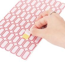 10 ورقة/حزمة ذاتية اللصق لزجة التسمية القرطاسية ملصقات للكتابة اسم فارغة ملاحظة تسمية شريط ملصقا