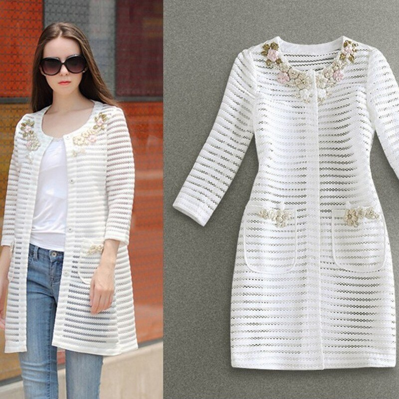 Neue Ankunft Runway Frauen Plaid Kerb Langarm Single Button Jacke Büro Elegante Mode Kurze Tops Heiße Verkäufe mantel