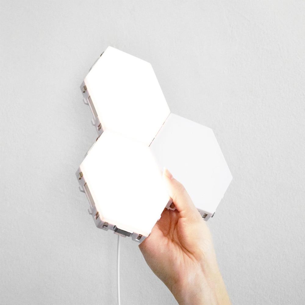 2019 New Cololight Quantum Lamp Touch Sensitive Light Modular Hexagon Panel Lamp Magnetic DIY Creative Decoration Wall Lighting enlarge