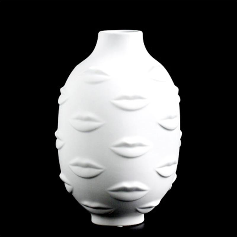 Senhora rosto cabeça plantador vaso rosto para flor rosto humano vaso de flores suculento pote casa jardim ornamento branco artesanato cerâmica