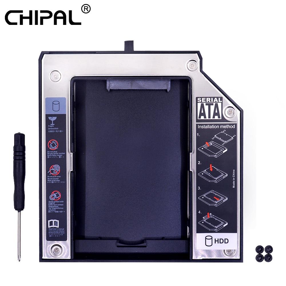 "Chipal 2nd hdd caddy 12.7mm sata 3.0 para 2.5 ""2tb ssd caso hdd gabinete para lenovo thinkpad t420 t430 t510 t520 t530 odd CD-ROM"