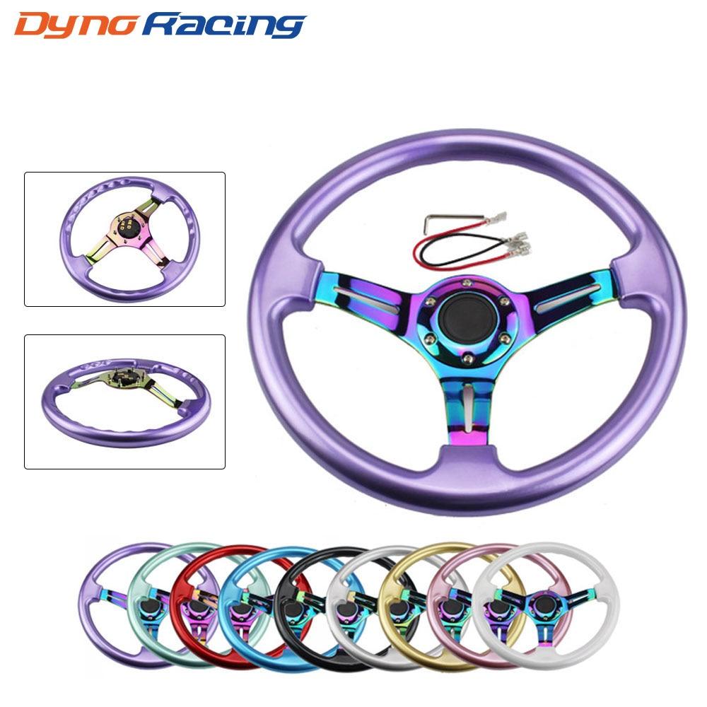 Neo Chrome New 350mm 14inch Steering Wheel ABS Steering Wheel