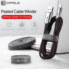 CAFELE câble enrouleur câble organisateur fil pour iPhone USB Micro Type C chargeur câbles support pour écouteurs gestion cordon protecteur