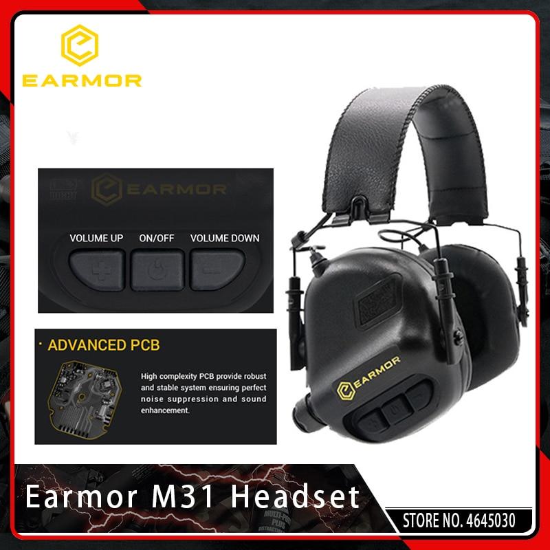 OPSMEN Airsoft Earmor M31 Headset Tactical Shooting Aviation Headphones Anti-noise Earphones Military Softair Ear Protection