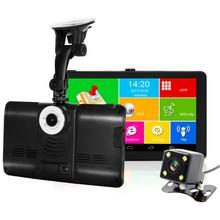 Caméra DVR pour voiture 7 pouces   GPS, navigateur, enregistreur, Android GPS, Navigation WIFI FM, camion GPS, GPS, GPS, 8 go, cartes gratuites, toruiste