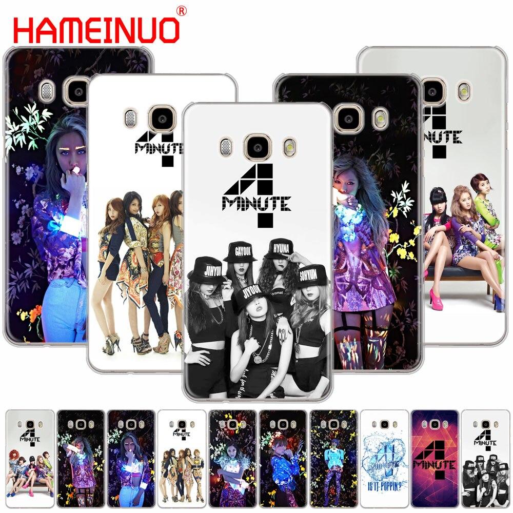 Cubierta del cartel del Kpop de 4 minutos 4 minutos HAMEINUO funda para Samsung Galaxy J1 J2 J3 J5 J7 MINI ACE 2016 2015 prime