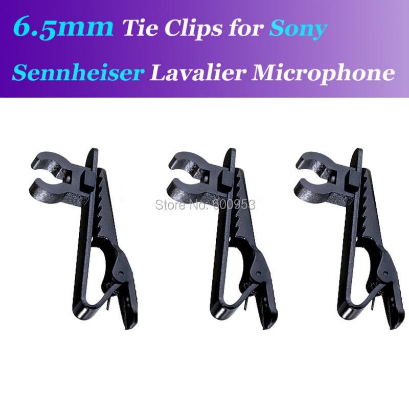 3Pcs 6.5mm Spare Replaceable Mic Clip for Sennheiser ME2 Sony V1 D11 Lavalier Lapel Microphones