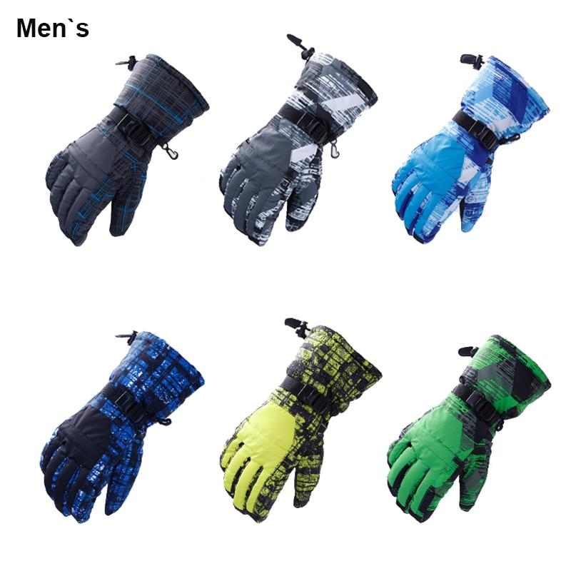 Guantes de invierno para hombre y mujer, Montañismo al aire libre, senderismo, esquí, resistente al viento, impermeables, gruesos y cálidos, guantes completos para montar en motocicleta