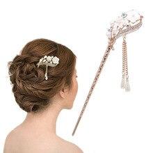Femmes élégant isolé orchidée épingle à cheveux mode épingle à cheveux strass bâton de cheveux nouvelle vente
