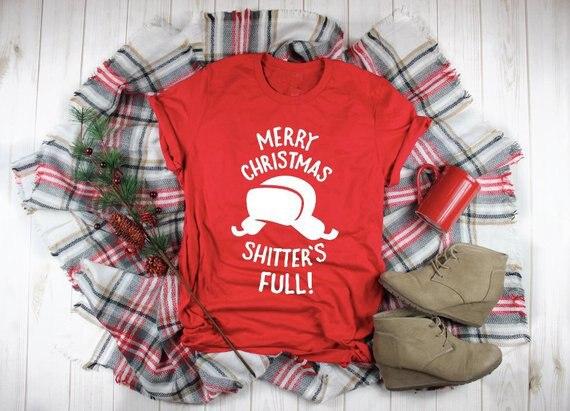 Camiseta divertida de Feliz Navidad, ropa informal Vintage completa, roja, gráfica Harajuku,...