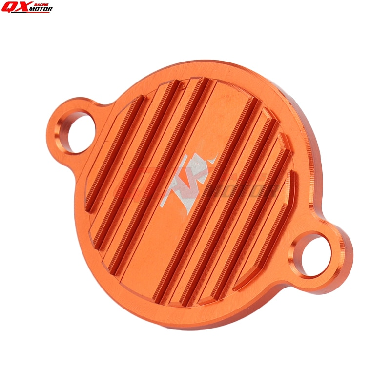 CNC Billet Engine Oil Filter Cover Cap For 250 350 450 505 SXF 450SMR EXCF 200 530 EXC SX EXC SMR Motorcross Dirt Bike Enduro