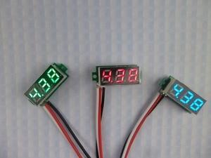 GWUNW BY328V {Two line} DC 3.3-30V 3 bit  digital Mini voltmeter Panel Meter Voltage Tester Meter