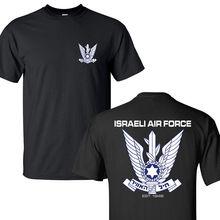 2019 Nieuwe 100% Katoenen T-shirts Mannen Israëlische Luchtmacht Militaire Israël Defense Forces Fighter Zwarte T-shirts S-3XL Casual T-shirt