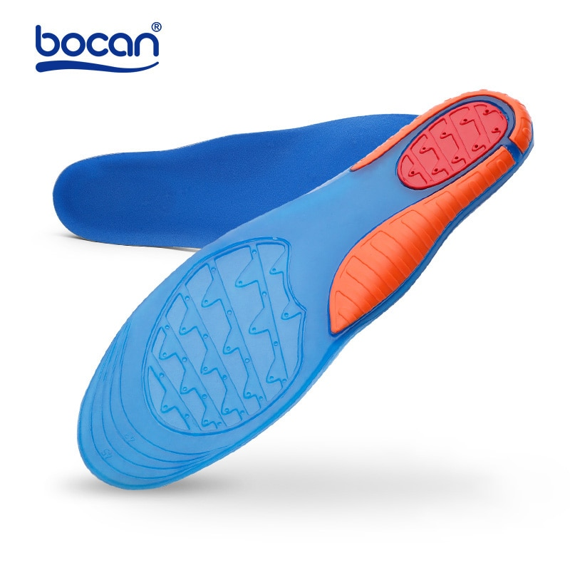 bocan insoles shoes pad sweat absorbing shock absorption breathable comfortable for men and women shoes insoles Bocan high quality gel insoles comfortable shoe insoles shock absorption insole for men and women