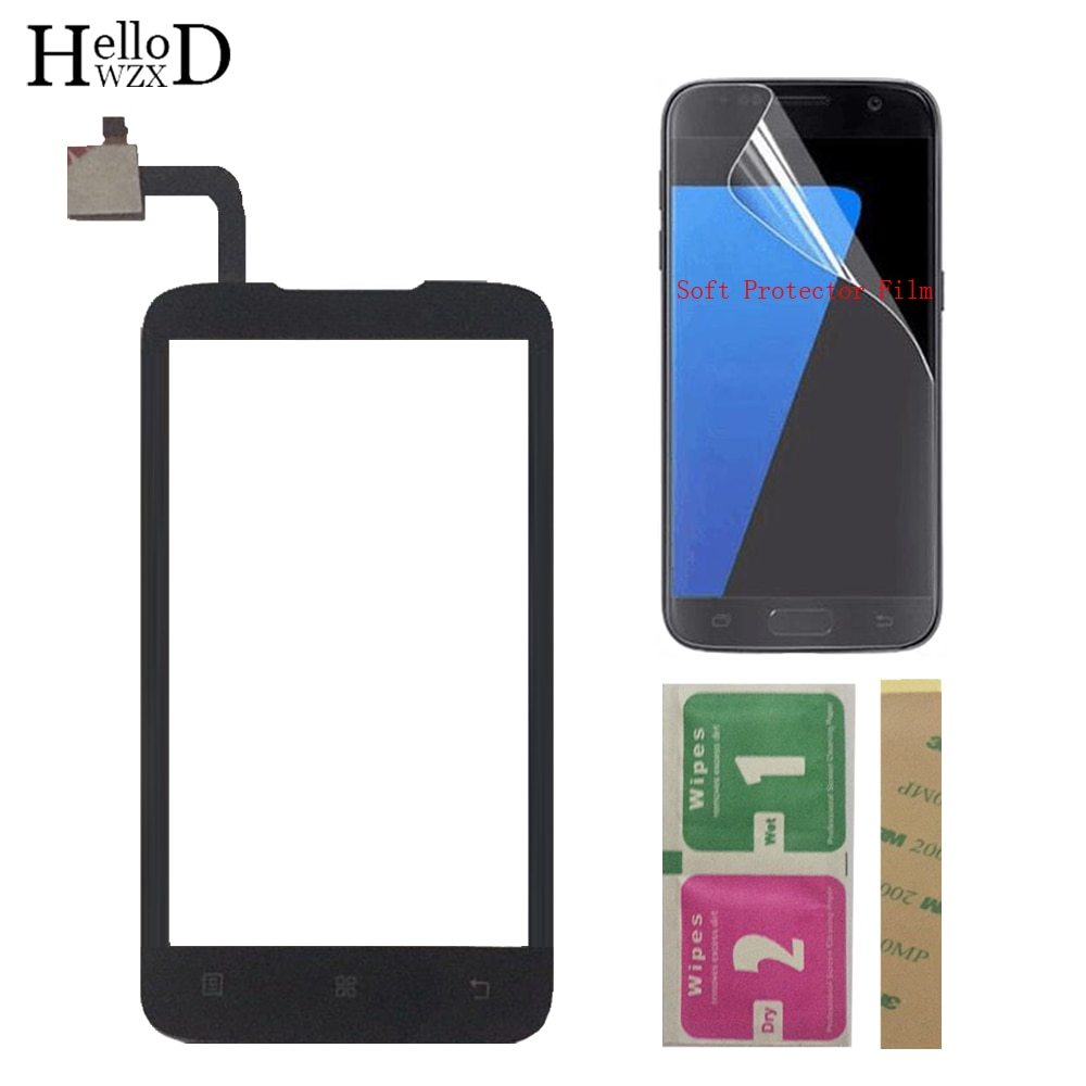 Mobile Touch Screen TouchScreen For Lenovo A316 A316i Touch Screen Front Glass Digitizer Panel Sensor + Protector Film 3M Glue недорого