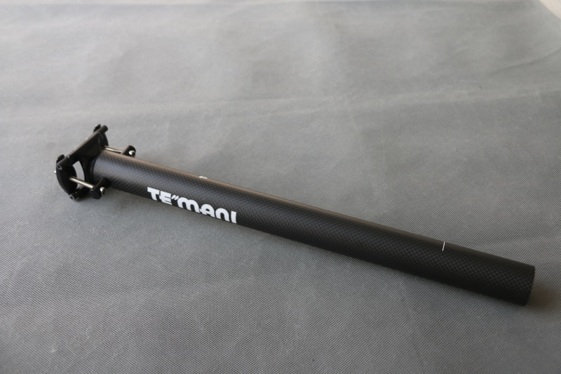 Tija de sillín de bicicleta plegable de fibra de carbono TEMANI, tubo de asiento BMX para bicicleta, sillín piezas de bicicleta 33,9/34,9mm * 400mm