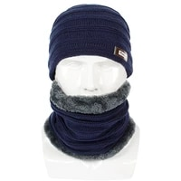 mens winter hat new knit outdoor cold hat fleece cap pure color wool autumn winter hat