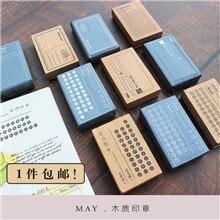 Sello de madera transparente moodtape vintage para álbum de recortes DIY/sello decorativo para álbum de fotos bienale Appt postal sello de goma