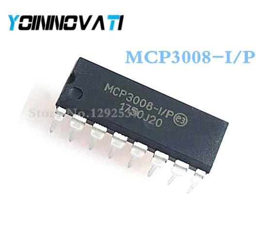 2 unids/lote MCP3008-I/P MCP3008 DIP-16 mejor calidad IC