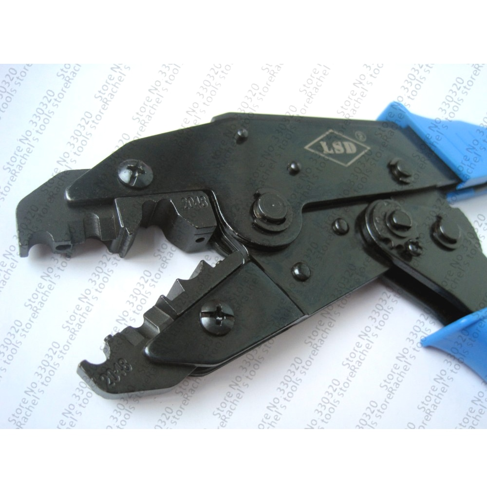 Herramienta de engaste de cables de bujía LS-2048 herramienta de engarzado de trinquete para prensar y pelar Cable de bujía engarzado a mano