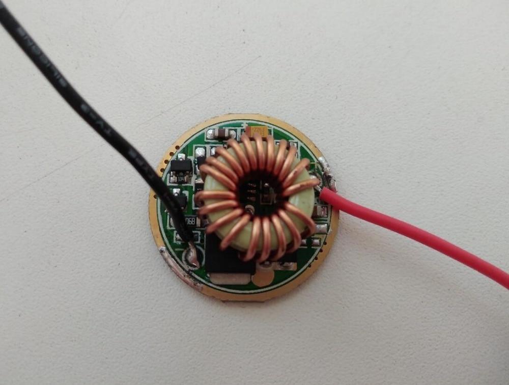 Controlador led cree de 26mm y 5 modos para 3x Leds XML/XML2, conectar en serie