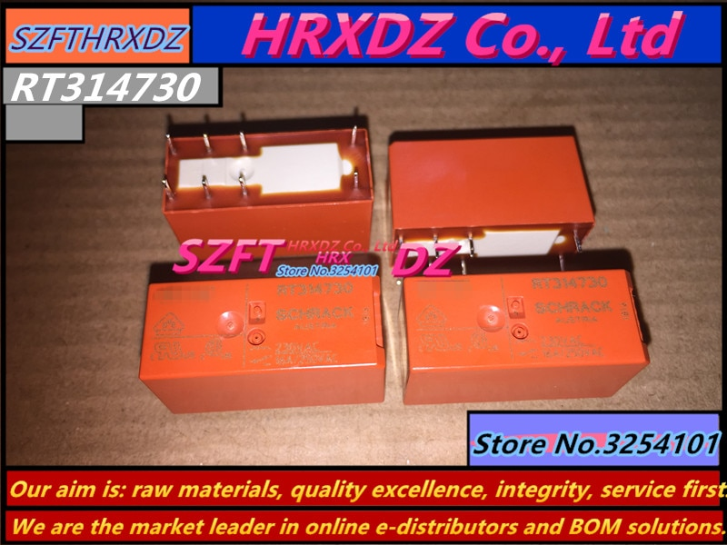 10PCS RT314005 RT314012 RT314024 RT314730 SZFTHRXDZ 100% original novo relé de potência