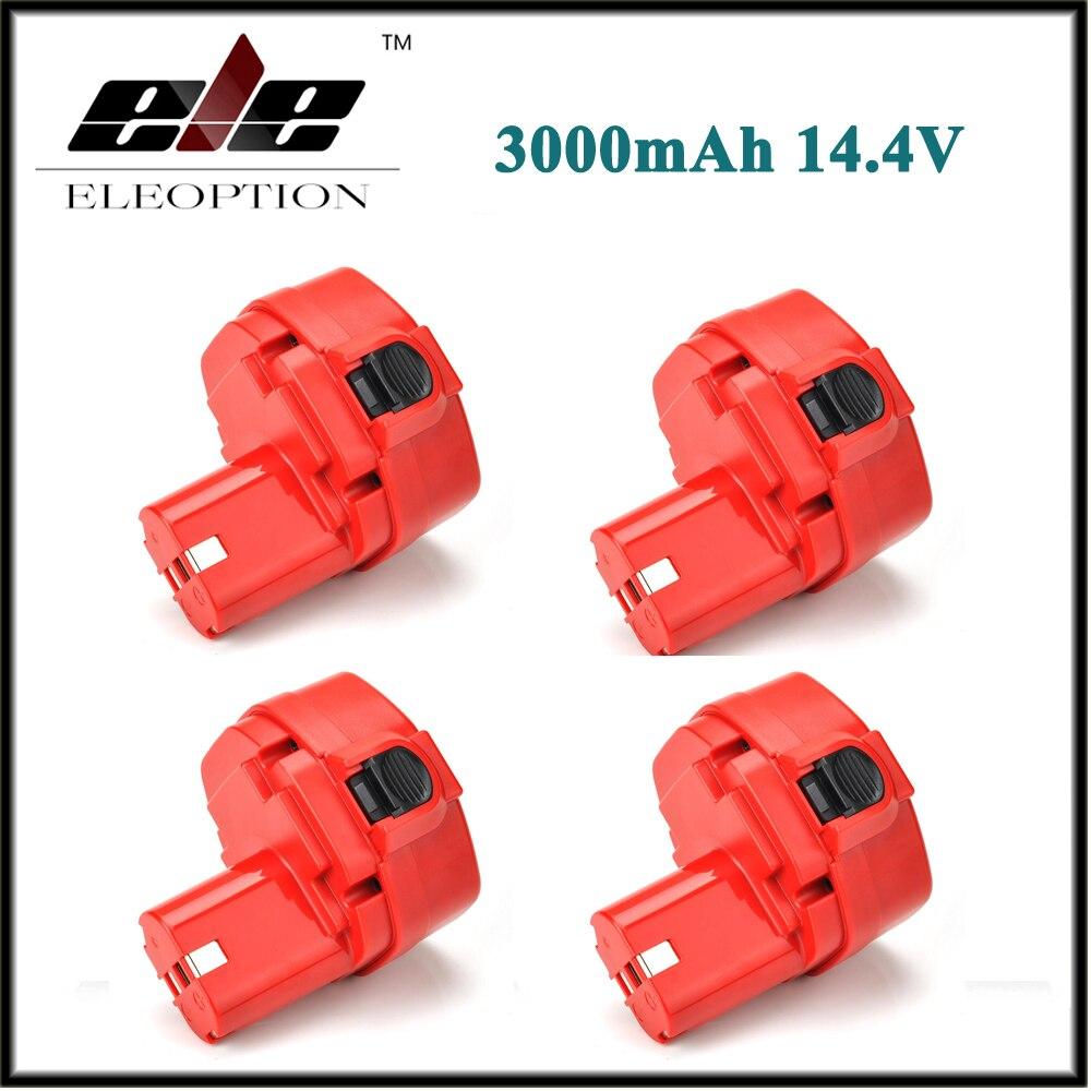 4 Uds eleopción 14,4 V 3000mAh 3.0Ah Ni-MH herramienta eléctrica recargable de la batería para Makita taladro PA14 JR140D 1420, 1422, 1433, 1434