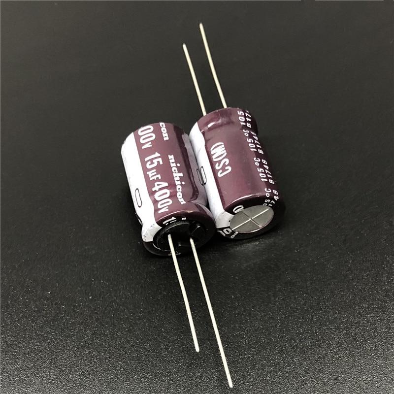 5 uds/50 Uds 15uF 400V NICHICON de la serie CS 12,5x20mm alta ondulación actual alta fiabilidad 400V15uF condensador electrolítico de aluminio