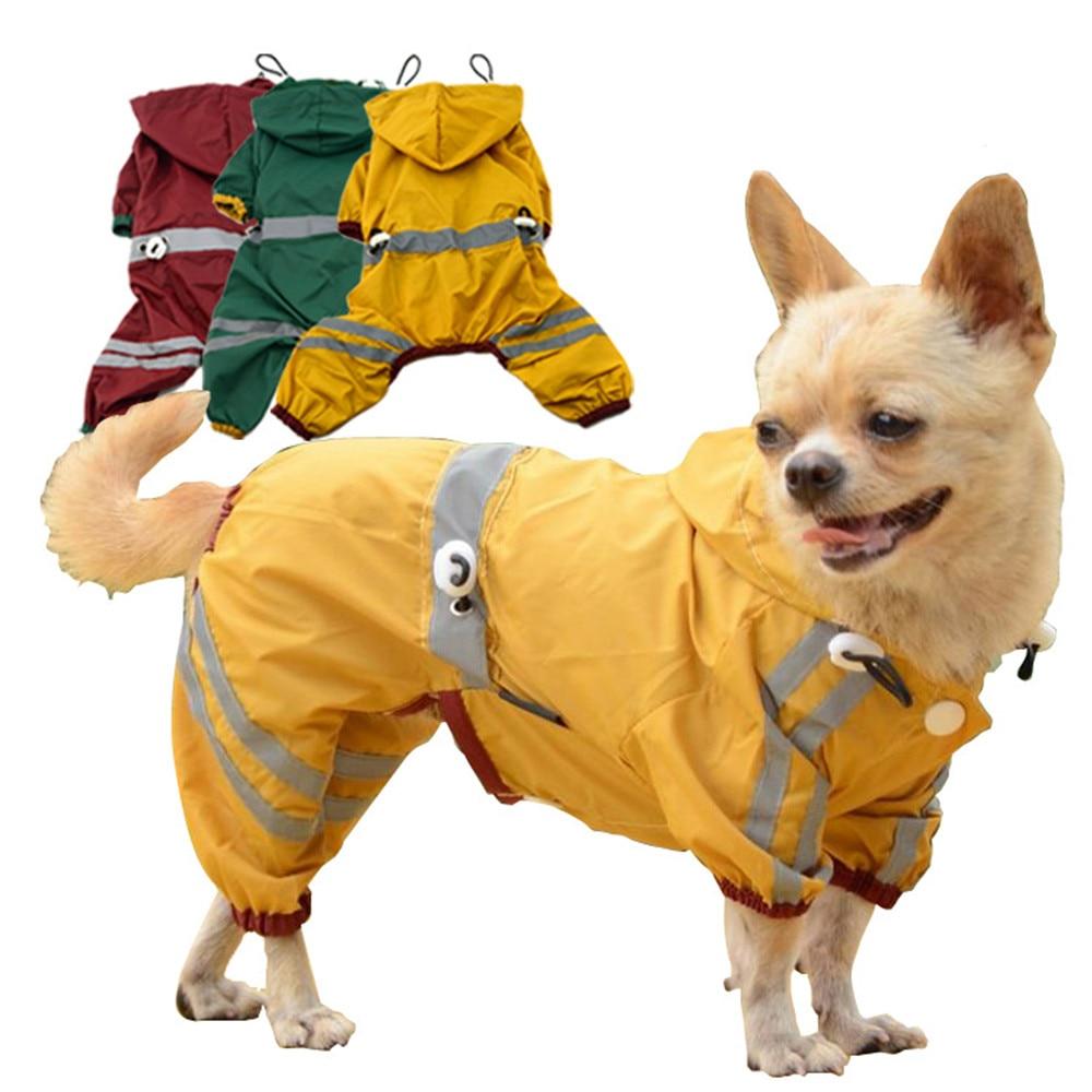 1 Uds. Chubasquero con capucha para perros pequeños impermeable para perros Chihuahua perro yorkie Poncho cachorro chubasquero S-L