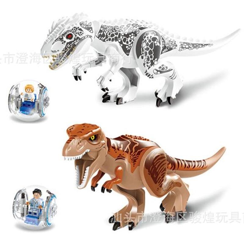 Compatible con Lepining figuras del mundo de dinosaurios jurásicos Tiranosaurio Rex juguetes de bloques de construcción jurásico