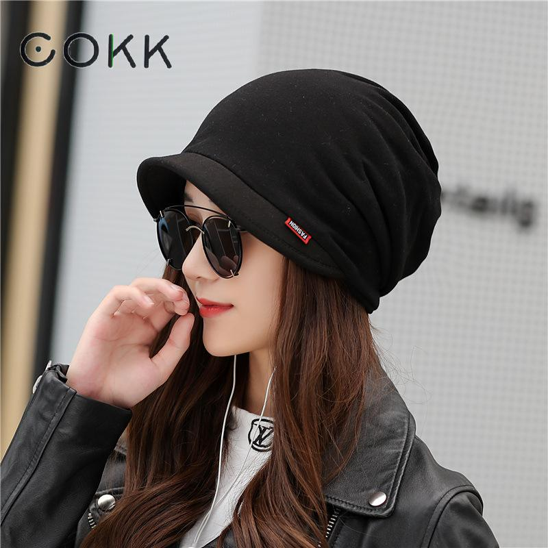 COKK chapeaux dhiver unisexe pour hommes   Turban, Bonnet extensible, Bonnet dhiver, casquette doreille coupe-vent, couvre-chef, écharpe pour masque