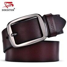 DINISITON koeienhuid echt lederen riemen voor mannen designer riemen merk Riem mannelijke pin gesp fancy vintage jeans ceinture