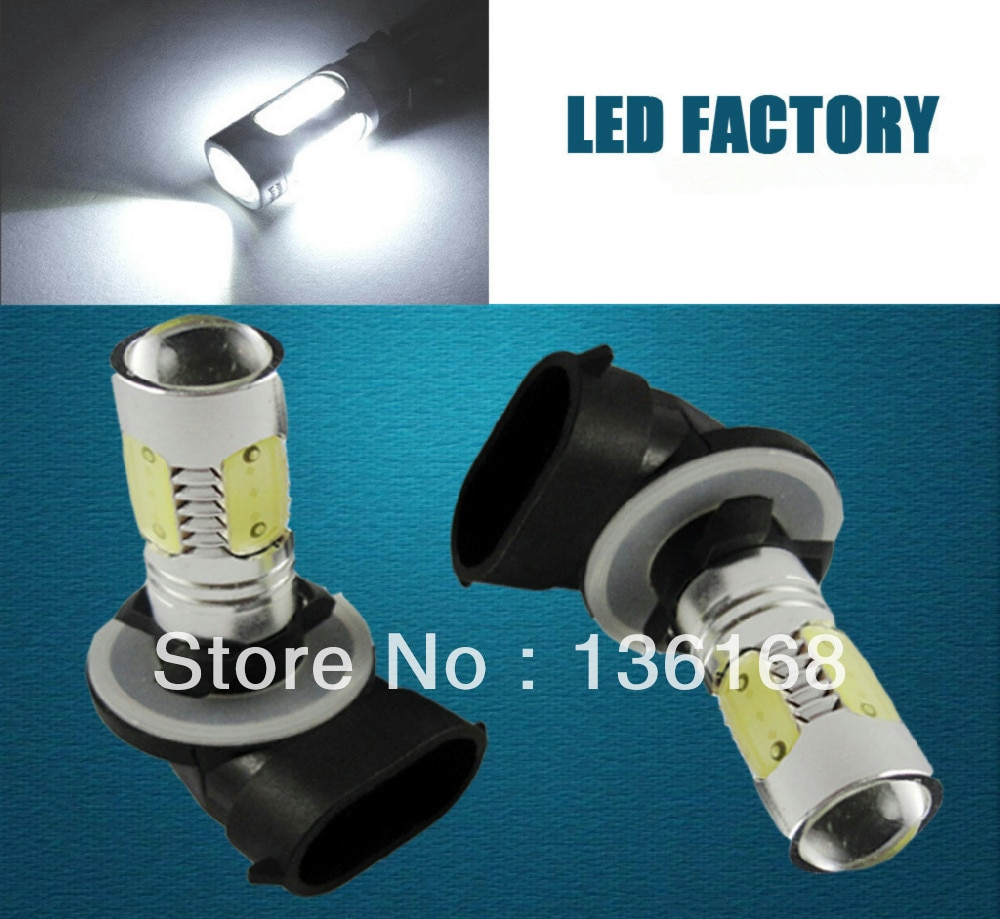 2x 7.5 w smd hi-power led 881 H27W-2 lâmpada drl branco condução luz de nevoeiro
