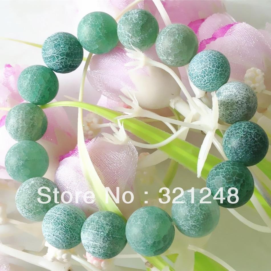 Arcoíris verde dragón venas escarcha carnelian agat Piedra natural ónix 12mm moda única pulsera redonda mujer 7,5 pulgadas MY2339