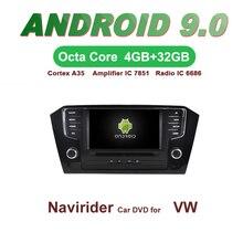 Navirider GPS Android 9.0 bluetooth stéréo 4-Core 8-Core lecteur DVD de voiture pour passat 2016 tête unité autoradio accessoires