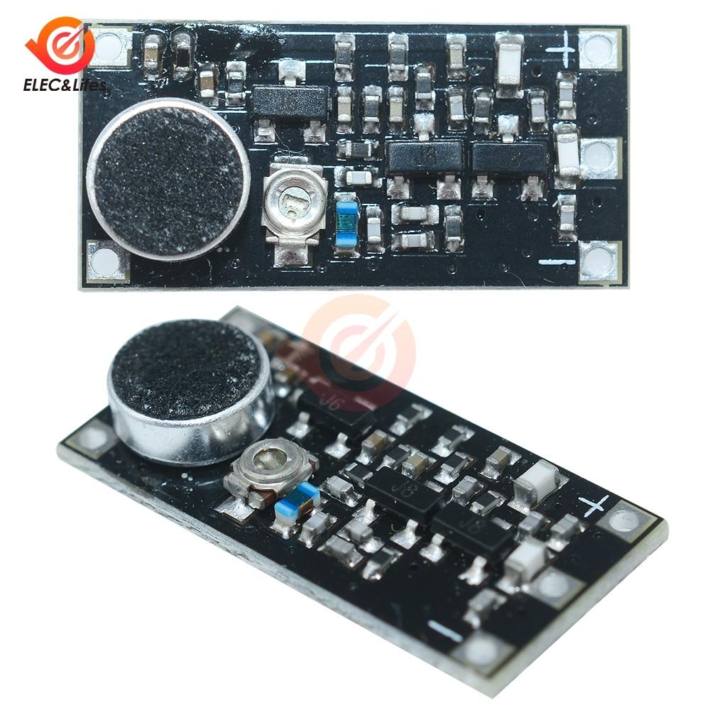 Micrófono inalámbrico 88-115MHz Mini FM, placa de módulo transmisor de frecuencia de vigilancia para Arduino, condensador ajustable DC 2V-9V