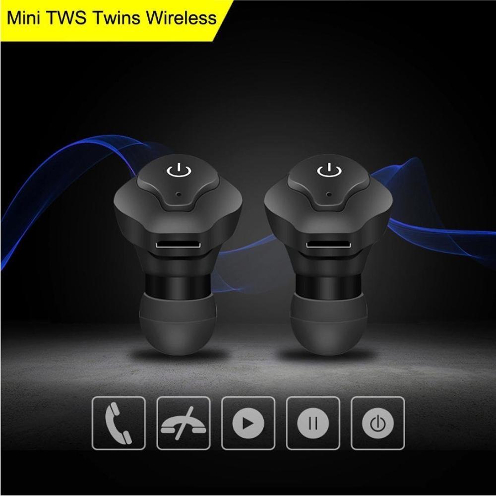 TWS DS-13 Mini auriculares impermeables Bluetooth inalámbricos de moda portátil Hifi sonido de calidad auriculares deportivos